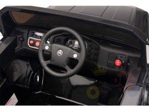 kidsvip mercedes benz zetros truck car for kids amd toddlers leather 12v rc rubber wheels black 13