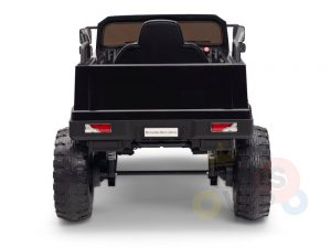 kidsvip mercedes benz zetros truck car for kids amd toddlers leather 12v rc rubber wheels black 15
