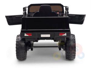 kidsvip mercedes benz zetros truck car for kids amd toddlers leather 12v rc rubber wheels black 16