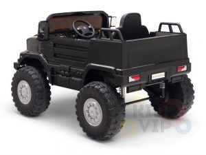 kidsvip mercedes benz zetros truck car for kids amd toddlers leather 12v rc rubber wheels black 18