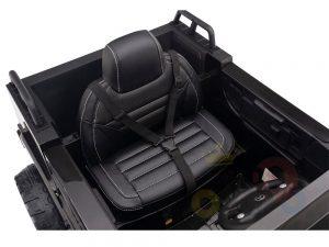 kidsvip mercedes benz zetros truck car for kids amd toddlers leather 12v rc rubber wheels black 6