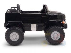 kidsvip mercedes benz zetros truck car for kids amd toddlers leather 12v rc rubber wheels black 8