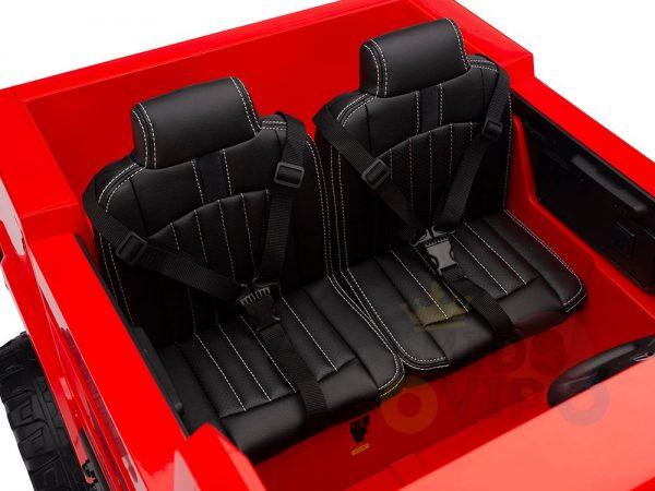 kidsvip zetros 24v kids ride on car 2 seater red 5