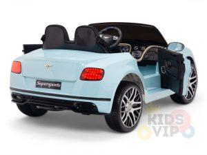 KIDSVIP BENTLEY KIDS RIDE ON CAR 12V SUPERSPORT blue 6