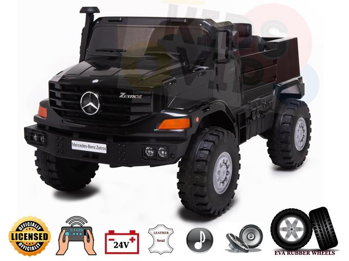 2 Seats Ultimate XXL Mercedes Benz Zetros 24V Kids Ride On Truck Car with Remote Control