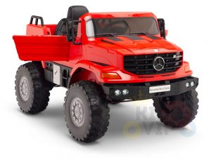 kids vip 12 mercedes benz zetros red ride on car 4