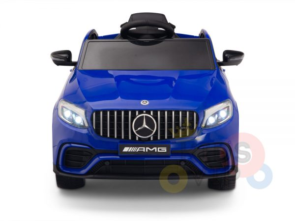 kidsvip mercedes benz glc63 glc suv kids and toddlers ride on car 4wd 4x4 12v leather seat rubber wheels blue 12
