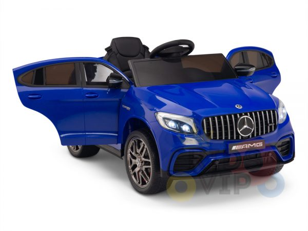 kidsvip mercedes benz glc63 glc suv kids and toddlers ride on car 4wd 4x4 12v leather seat rubber wheels blue 14
