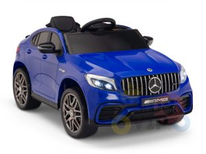 kidsvip mercedes benz glc63 glc suv kids and toddlers ride on car 4wd 4x4 12v leather seat rubber wheels blue 15