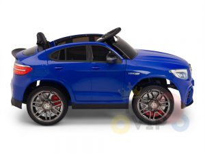 kidsvip mercedes benz glc63 glc suv kids and toddlers ride on car 4wd 4x4 12v leather seat rubber wheels blue 17