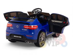 kidsvip mercedes benz glc63 glc suv kids and toddlers ride on car 4wd 4x4 12v leather seat rubber wheels blue 19