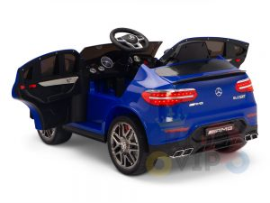 kidsvip mercedes benz glc63 glc suv kids and toddlers ride on car 4wd 4x4 12v leather seat rubber wheels blue 2