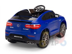 kidsvip mercedes benz glc63 glc suv kids and toddlers ride on car 4wd 4x4 12v leather seat rubber wheels blue 20