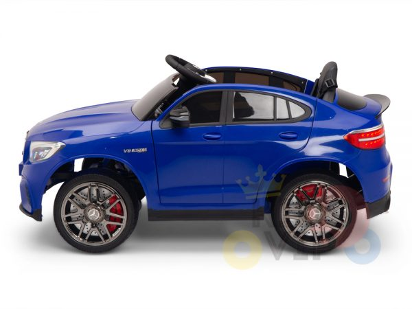 kidsvip mercedes benz glc63 glc suv kids and toddlers ride on car 4wd 4x4 12v leather seat rubber wheels blue 4