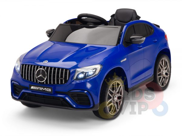 kidsvip mercedes benz glc63 glc suv kids and toddlers ride on car 4wd 4x4 12v leather seat rubber wheels blue 7