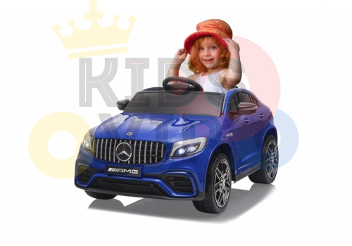 kidsvip mercedes benz glc63 glc suv kids and toddlers ride on car 4wd 4x4 12v leather seat rubber wheels blue 9