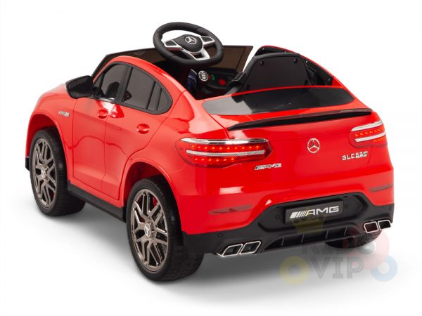 kidsvip mercedes benz glc63 glc suv kids and toddlers ride on car 4wd 4x4 12v leather seat rubber wheels red 13