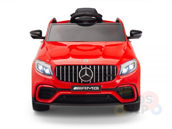 kidsvip mercedes benz glc63 glc suv kids and toddlers ride on car 4wd 4x4 12v leather seat rubber wheels red 20