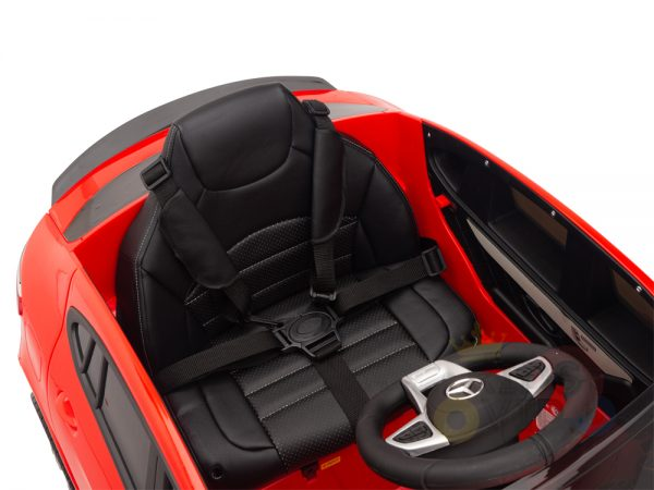 kidsvip mercedes benz glc63 glc suv kids and toddlers ride on car 4wd 4x4 12v leather seat rubber wheels red 26