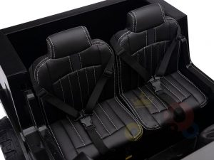 kidsvip zetros 24v kids ride on car 2 seater black 4