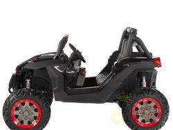 KIDSVIP 12v kids and toddlers utv 2 seats rubber wheels black 1