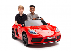 KIDSVIP XXL RIDE ON CAR FOR BIG KIDS 24V 180W RUBBER WHEELS LEATHER SEAT red 77