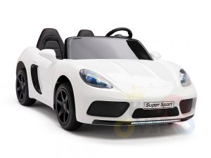 KIDSVIP XXL RIDE ON CAR FOR BIG KIDS 24V 180W RUBBER WHEELS LEATHER SEAT white 37