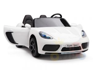 KIDSVIP XXL RIDE ON CAR FOR BIG KIDS 24V 180W RUBBER WHEELS LEATHER SEAT white 39