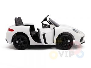 KIDSVIP XXL RIDE ON CAR FOR BIG KIDS 24V 180W RUBBER WHEELS LEATHER SEAT white 42