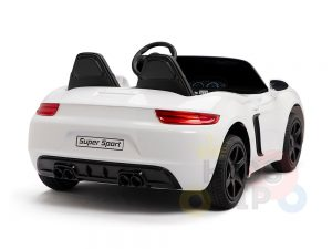 KIDSVIP XXL RIDE ON CAR FOR BIG KIDS 24V 180W RUBBER WHEELS LEATHER SEAT white 44