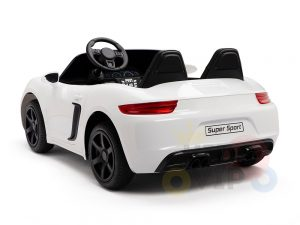 KIDSVIP XXL RIDE ON CAR FOR BIG KIDS 24V 180W RUBBER WHEELS LEATHER SEAT white 52