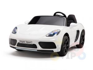 KIDSVIP XXL RIDE ON CAR FOR BIG KIDS 24V 180W RUBBER WHEELS LEATHER SEAT white 57
