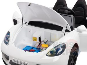 KIDSVIP XXL RIDE ON CAR FOR BIG KIDS 24V 180W RUBBER WHEELS LEATHER SEAT white 60