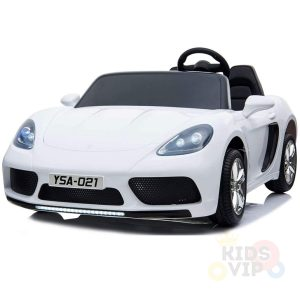KIDSVIP XXL RIDE ON CAR FOR BIG KIDS 24V 180W RUBBER WHEELS LEATHER SEAT white 67