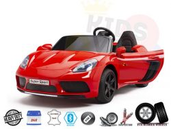 XXL Super Ride 2 Seater 24v Kids Ride On Car With 180W Brushless Motor&Rubber Wheels