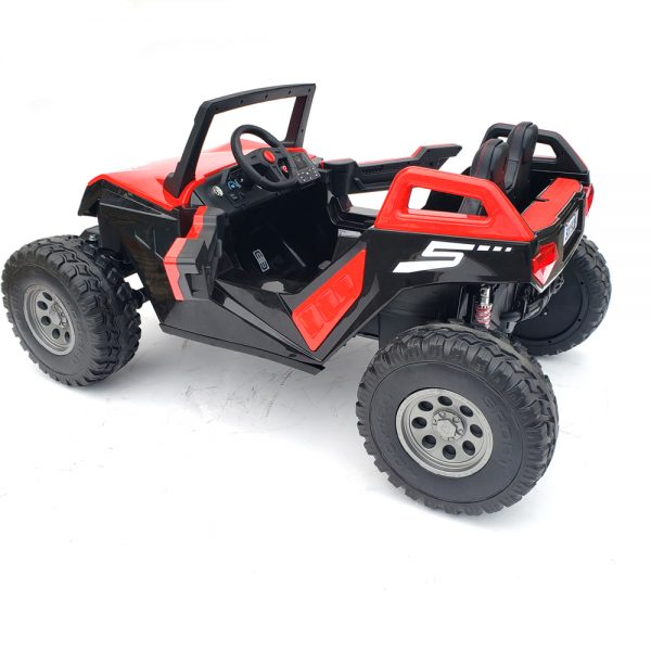 kidsvip dune buggy challenger 24v sx1928 ride on kids and toddlers rubber leather red 117