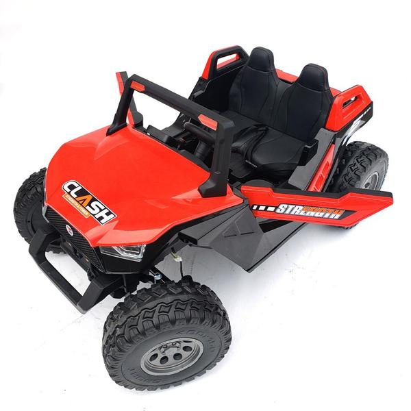 kidsvip dune buggy challenger 24v sx1928 ride on kids and toddlers rubber leather red 14