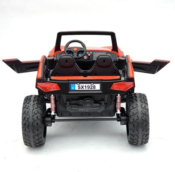 kidsvip dune buggy challenger 24v sx1928 ride on kids and toddlers rubber leather red 18