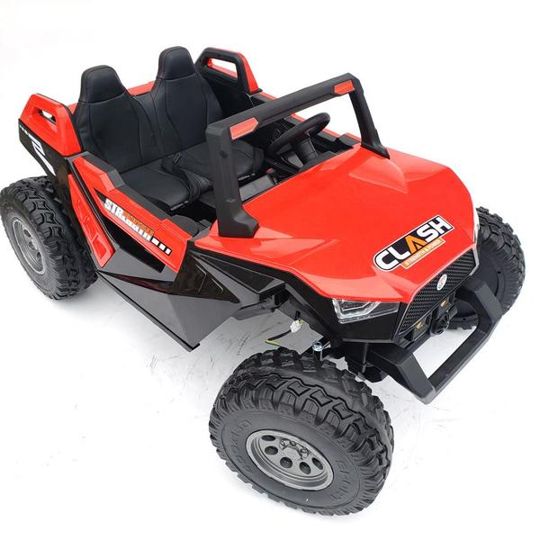 kidsvip dune buggy challenger 24v sx1928 ride on kids and toddlers rubber leather red 21 1