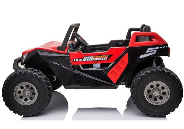 kidsvip dune buggy challenger 24v sx1928 ride on kids and toddlers rubber leather red 32