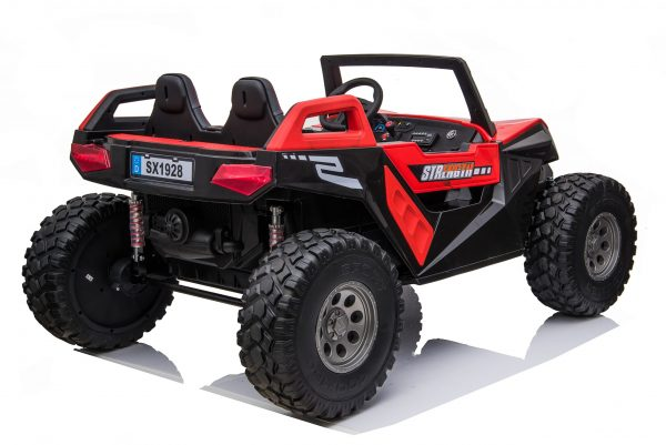 kidsvip dune buggy challenger 24v sx1928 ride on kids and toddlers rubber leather red 42