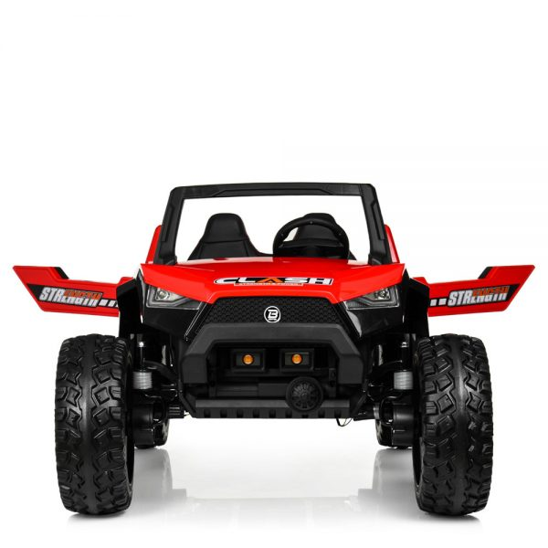 kidsvip dune buggy challenger 24v sx1928 ride on kids and toddlers rubber leather red 55