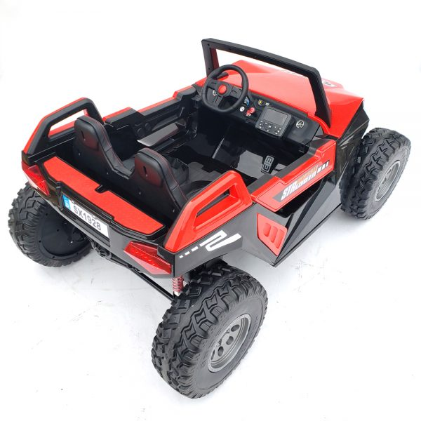 kidsvip dune buggy challenger 24v sx1928 ride on kids and toddlers rubber leather red 78
