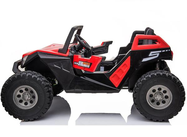 kidsvip dune buggy challenger 24v sx1928 ride on kids and toddlers rubber leather red 8 1