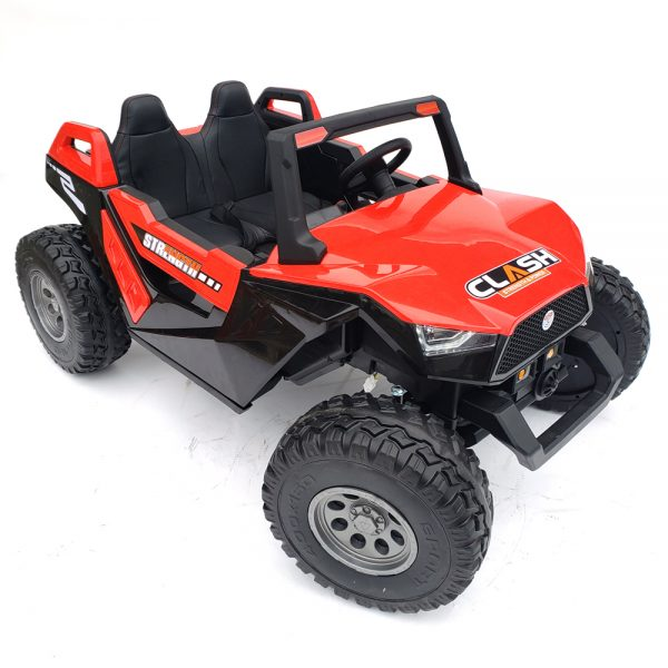 kidsvip dune buggy challenger 24v sx1928 ride on kids and toddlers rubber leather red 86