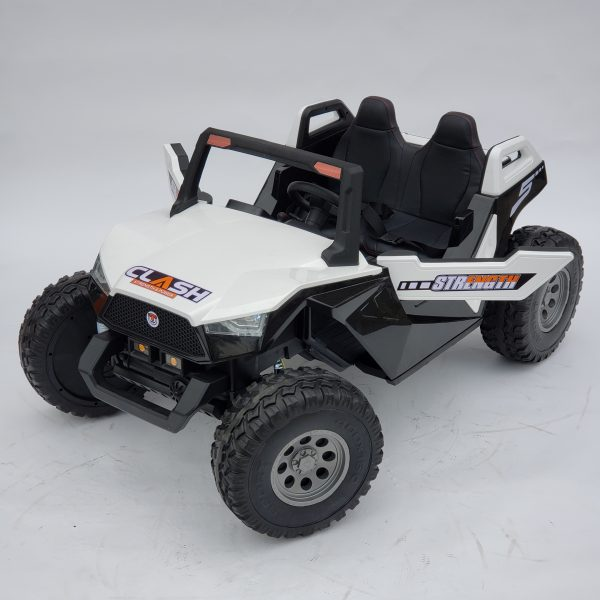 kidsvip dune buggy challenger 24v sx1928 ride on kids and toddlers rubber leather white 53