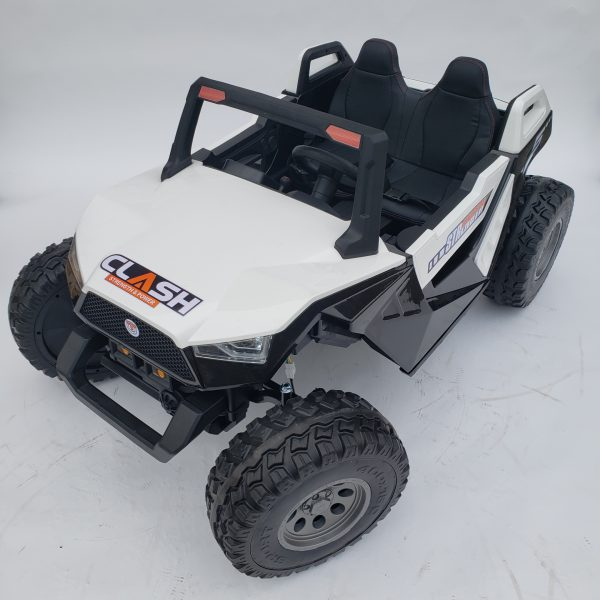 kidsvip dune buggy challenger 24v sx1928 ride on kids and toddlers rubber leather white 57