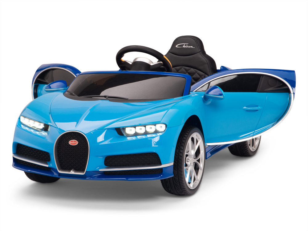 Official Bugatti Chiron kids Ride on Car with Remote Control & Rubber Wheels - Blue - Kids Vip