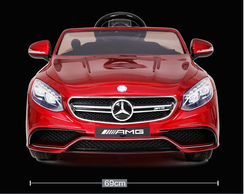 Top of The Line 12V Licensed Mercedes Benz S63 AMG Kids Ride on Car with RC