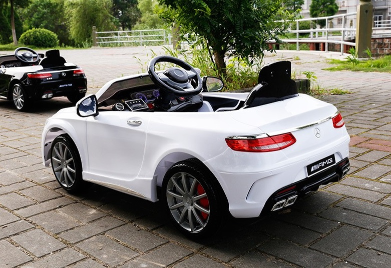 Top of The Line 12V Mercedes Benz S63 AMG Kids Ride on Car with RC